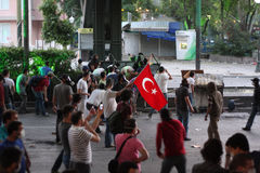 Türkischer Protest in Ankara Stockbilder