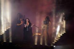 Türkischer Rockstar Sebnem Ferah Live Performing Stockfoto
