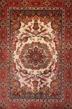 Türkischer silk Teppich des Hintergrundes Lizenzfreies Stockfoto