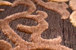 Türkischer Teppich entwirft Makro Lizenzfreies Stockfoto