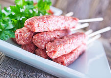 Türkischer traditioneller Sish-Fleisch-Kebab Lizenzfreies Stockfoto