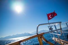 Türkisches fahnenschwenkendes Lizenzfreie Stockfotografie