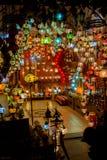 Türkisches Glas farbige Lampen Lizenzfreies Stockfoto