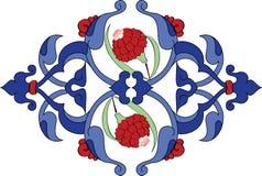Türkisches illustrat Fliese der traditionellen antiken Osmane Stockbilder