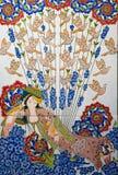 Türkisches Muster auf einer keramischen Wand in Istanbul, die Türkei lizenzfreies stockfoto
