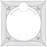 Türkisches Muster für Einladungsdesign Stockfotografie