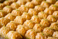 Türkisches süßes Baklava Stockfoto