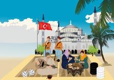 Türkisches Spiel lizenzfreie abbildung