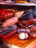 Türkisches Straßenlebensmittel kokorec stockfoto