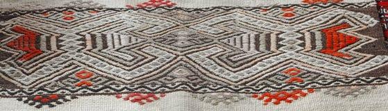 Türkisches traditionelles kilim, geometrische Muster Lizenzfreies Stockfoto
