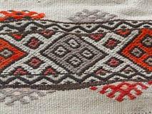 Türkisches traditionelles kilim, geometrische Muster Lizenzfreie Stockbilder