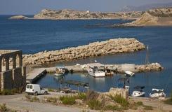 Türkisches Zypern - Kaplica Hafen Stockfoto