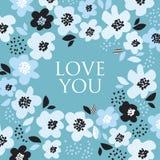 Türkisfarbzusammenfassungs-Blumenmuster Lizenzfreie Stockfotografie