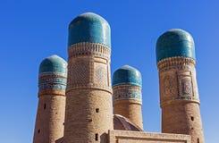 Türkishauben des Chor geringes Madrassah - Bukhara, Usbekistan Lizenzfreie Stockfotografie