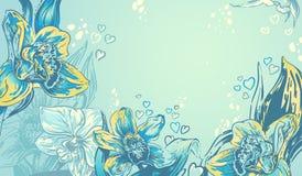 Türkishintergrund mit schönem tropischem orchi Lizenzfreies Stockbild