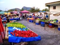 Türkiye Pazarı, Turkish market in Kemer, Antalya Stock Photography