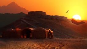 Türme der Ruhe in der iranischen Provinz von Yazd Der alte Iran persien lizenzfreie stockfotografie
