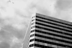 Türme eines moderne Gebäudes oben Stockfotografie