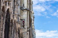 Türme und Wasserspeier von Notre Dame stockfoto