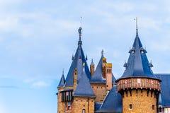 Türme von Castle De Haar, ein des Schlosses Wiederaufbauen vollständig des 14. Jahrhunderts im Ende des 19. Jahrhunderts stockbilder