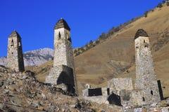 Türme von Inguschetien. Alte Architektur und Ruinen Stockbild