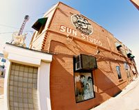 Türspions-Ansicht von Sun-Studio, Memphis Tennessee Lizenzfreie Stockfotos