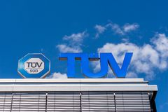 TÜV Germany - Technical Inspection Association. TÜV German Technischer Überwachungsverein, English: Technical Inspection Association are German businesses Stock Photography