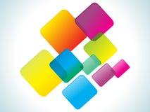 tęcza abstrakcjonistyczni kolorowi prostokąty Obrazy Stock