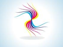 tęcza abstrakcjonistyczny kolorowy kształt Obrazy Stock