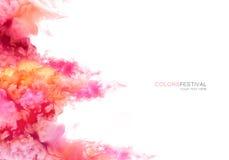 Tęcza atrament w wodzie abstrakcjonistycznego kolor tła eksplozji fractals ilustracja textured cyfrowa struktura farby Zdjęcie Stock