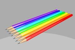 Tęcza barwioni ołówki ilustracyjni Obraz Royalty Free