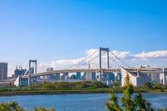 Tęcza Bridżowy Odaiba Fotografia Royalty Free