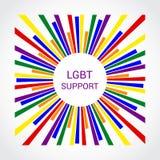 Tęcza Chorągwiany LGBT Stubarwna To jest emblematem lub logo zdjęcie royalty free