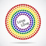 Tęcza Chorągwiany LGBT Stubarwna To jest emblematem lub logo obraz stock