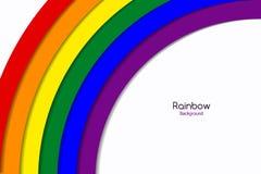 Tęcza Chorągwiany LGBT Stubarwna To jest emblematem lub logo fotografia stock