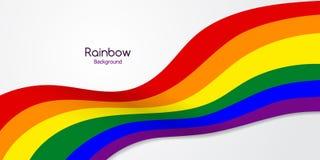 Tęcza Chorągwiany LGBT Stubarwna To jest emblematem lub logo obrazy stock