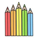 Tęcza coloured ołówki ilustracja wektor