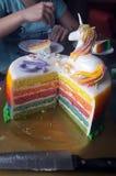 Tęcza deser fifteenth urodziny zdjęcia stock