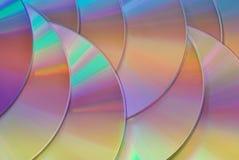 Tęcza dysków tekstury barwiony tło Fotografia Royalty Free