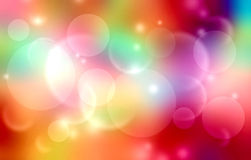Tęcza kolorów plamy tło Fotografia Royalty Free