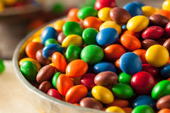 Tęcza Kolorowego cukierku Pokryta czekolada fotografia stock