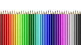 Tęcza Kolorowi ołówki Wyrównujący ilustracja wektor