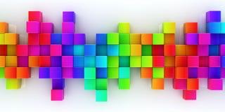 Tęcza kolorowy bloku abstrakta tło ilustracji