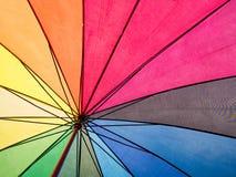 Tęcza kolorowy inside parasol dla tła Obraz Royalty Free