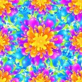 Tęcza koloru farby pluśnięcia żywy wektor bezszwowy royalty ilustracja