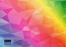 Tęcza koloru geometryczny trójgraniasty gradientowy ilustracyjny graficzny wektorowy tło Wektorowy poligonalny projekt dla twój b royalty ilustracja