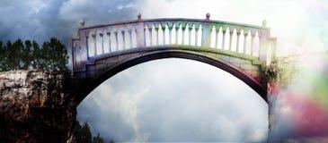 Tęcza most obrazy royalty free