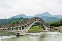 Tęcza most widok od Odaiba wyspy, Tokio, Japonia Zdjęcia Stock