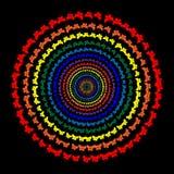 Tęcza motyl, okrąg, kolor przemiana Obraz Stock