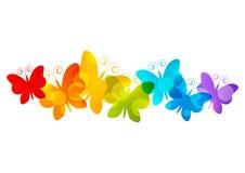 Tęcza motyle ilustracji